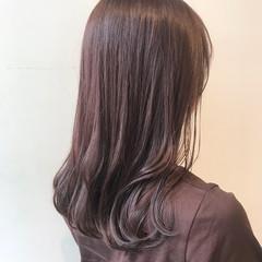 ピンクブラウン ナチュラル 透明感カラー ピンクベージュ ヘアスタイルや髪型の写真・画像