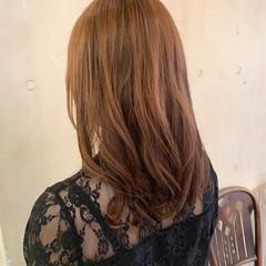 韓国ヘア ロング デジタルパーマ ナチュラル ヘアスタイルや髪型の写真・画像