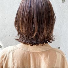 外ハネボブ ナチュラル ボブ モテボブ ヘアスタイルや髪型の写真・画像