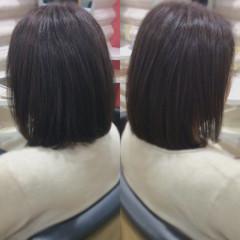 ナチュラル 髪質改善トリートメント 髪質改善カラー ボブ ヘアスタイルや髪型の写真・画像