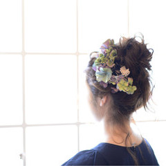 モテ髪 夏 愛され 結婚式 ヘアスタイルや髪型の写真・画像