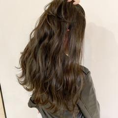 ゆるふわ ストリート 秋 ロング ヘアスタイルや髪型の写真・画像