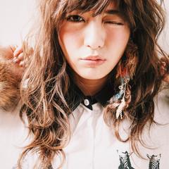 セミロング ミディアム 大人かわいい ストリート ヘアスタイルや髪型の写真・画像