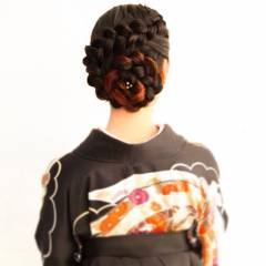 編み込み ヘアアレンジ コンサバ 謝恩会 ヘアスタイルや髪型の写真・画像