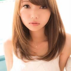外国人風 愛され ミディアム モテ髪 ヘアスタイルや髪型の写真・画像