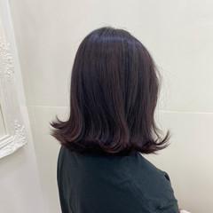 アッシュバイオレット ミディアム ラベンダー バイオレットアッシュ ヘアスタイルや髪型の写真・画像
