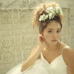 結婚式 愛され ヘアアレンジ モテ髪 ヘアスタイルや髪型の写真・画像