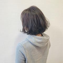 ストリート 大人女子 外ハネ ボブ ヘアスタイルや髪型の写真・画像