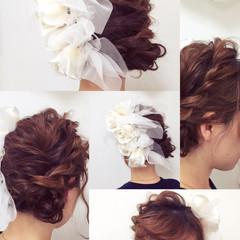 モテ髪 結婚式 フェミニン ミディアム ヘアスタイルや髪型の写真・画像