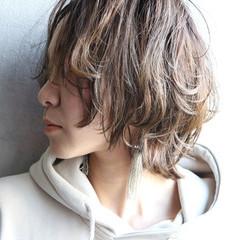大人かわいい ショート レイヤースタイル ウルフカット ヘアスタイルや髪型の写真・画像