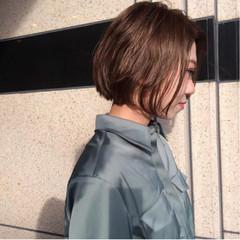 ウェットヘア アッシュ ボブ 女子会 ヘアスタイルや髪型の写真・画像
