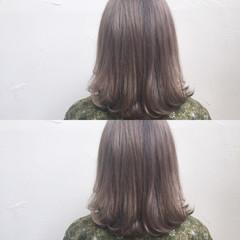 ハイライト ナチュラル ボブ フェミニン ヘアスタイルや髪型の写真・画像