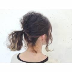 アップスタイル ヘアアレンジ ウェーブ ストリート ヘアスタイルや髪型の写真・画像