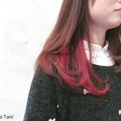 ツートン ストリート ロング ハイトーン ヘアスタイルや髪型の写真・画像