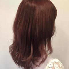 ミディアム ピンク パープル ストリート ヘアスタイルや髪型の写真・画像