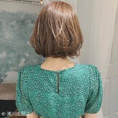 大人かわいい 切りっぱなしボブ エレガント ボブ ヘアスタイルや髪型の写真・画像