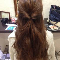 パーティ ガーリー グラデーションカラー フェミニン ヘアスタイルや髪型の写真・画像