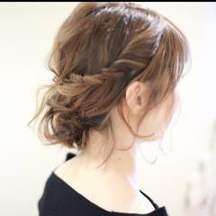 ハーフアップ グラデーションカラー 大人女子 ボブ ヘアスタイルや髪型の写真・画像