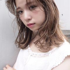 ハイライト 秋 透明感 外国人風 ヘアスタイルや髪型の写真・画像