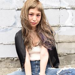 ロング デート アッシュ アンニュイ ヘアスタイルや髪型の写真・画像