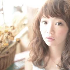 ゆるふわ 大人かわいい 愛され フェミニン ヘアスタイルや髪型の写真・画像