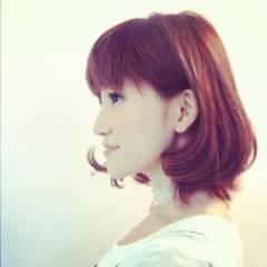 レッド ピンク ボブ 春 ヘアスタイルや髪型の写真・画像