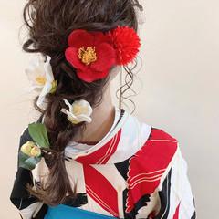 ロング 簡単ヘアアレンジ 結婚式 成人式 ヘアスタイルや髪型の写真・画像