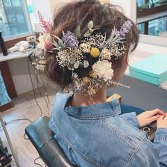 ナチュラル 成人式 結婚式 ヘアアレンジ ヘアスタイルや髪型の写真・画像