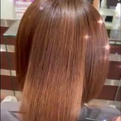 ナチュラル 最新トリートメント 髪質改善トリートメント ボブ ヘアスタイルや髪型の写真・画像