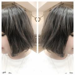 アッシュ 外国人風 ハイライト ボブ ヘアスタイルや髪型の写真・画像