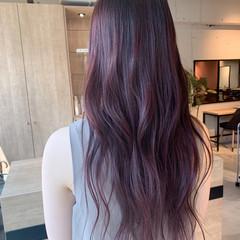 ナチュラル 透明感カラー ピンクベージュ ピンクバイオレット ヘアスタイルや髪型の写真・画像