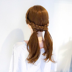 簡単ヘアアレンジ ロング ヘアアレンジ アウトドア ヘアスタイルや髪型の写真・画像