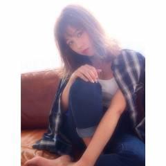 外国人風 グラデーションカラー シースルーバング ウェットヘア ヘアスタイルや髪型の写真・画像