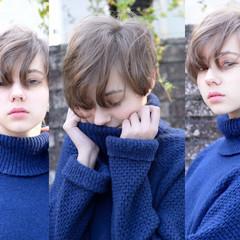 外国人風 ショート 簡単 大人かわいい ヘアスタイルや髪型の写真・画像