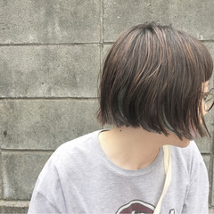 イルミナカラー ショートボブ ハイライト ショート ヘアスタイルや髪型の写真・画像