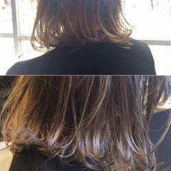 ボブ グラデーションカラー ブラントカット 外国人風 ヘアスタイルや髪型の写真・画像