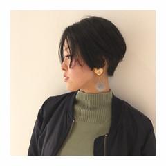ブルーブラック ネイビー モード ブルーアッシュ ヘアスタイルや髪型の写真・画像