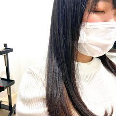 インナーカラー 韓国ヘア ナチュラル 韓国風ヘアー ヘアスタイルや髪型の写真・画像