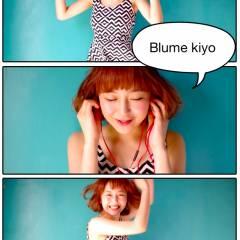 オレンジ イエロー ガーリー ショートバング ヘアスタイルや髪型の写真・画像