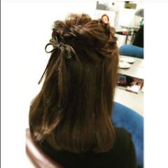 くるりんぱ 簡単ヘアアレンジ 編み込み ショート ヘアスタイルや髪型の写真・画像