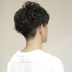 メンズカット メンズパーマ メンズ ショート ヘアスタイルや髪型の写真・画像