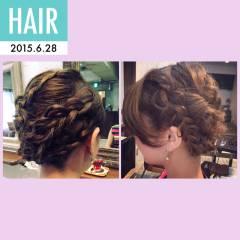 コンサバ ブライダル モテ髪 フェミニン ヘアスタイルや髪型の写真・画像