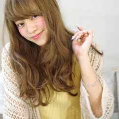 大人かわいい 外国人風 前髪あり ロング ヘアスタイルや髪型の写真・画像