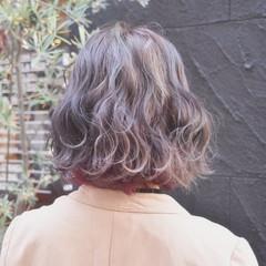インナーカラー ストリート ピンク ボブ ヘアスタイルや髪型の写真・画像