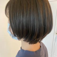 アッシュグレージュ アッシュグレー ナチュラル ショートヘア ヘアスタイルや髪型の写真・画像