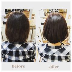 ヘアカラー ショートヘア ボブ ショートボブ ヘアスタイルや髪型の写真・画像