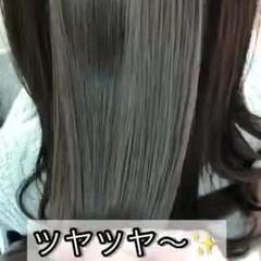 ツヤ髪 美髪 髪質改善トリートメント ナチュラル ヘアスタイルや髪型の写真・画像