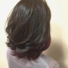 グラデーションカラー セミロング ナチュラル イルミナカラー ヘアスタイルや髪型の写真・画像