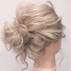 ヘアセット 簡単ヘアアレンジ エレガント ブライダル ヘアスタイルや髪型の写真・画像