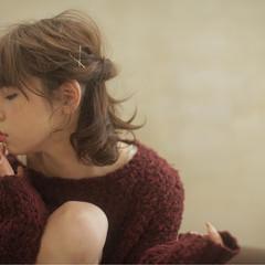 ガーリー 大人かわいい 外国人風 ボブ ヘアスタイルや髪型の写真・画像
